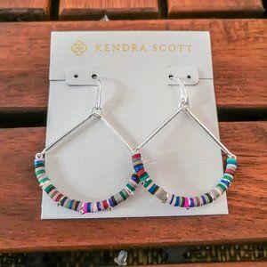 New Kendra Scott Reece Silver Neutral Mix Earrings